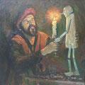 """Пешкин В.А. """"Мастер из сказки"""".2000. Х,м. 80х80"""
