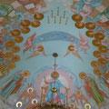 """Орехов А.В. """"Страшный суд."""" 2003г. Роспись купола Богоявленского храма.г. Звенигород."""