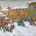 "Мокров Н.А.""У Люлина магазина"". 1956. К.м. 12.5х17,5"