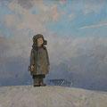 """Павлычев В.П. """"Смотрящий  на  облака."""" х.м., 75х107, 2008г."""