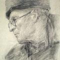 В. Потехин портрет  В. Авреха 1950-е б.уголь.