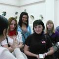 Встреча со студентами на Юбилейной выставке.2011.