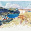 """Денисов А.Е. """"Залив в Палеохоре"""". Греция. 2004 акв. 32х48"""