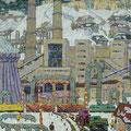 "Модоров Н.Н. ""Индустриальный пейзаж"".1974 г. 120 х110, х. м."