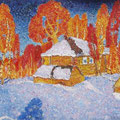 Юкин В.Я. .Село Любец. 1985. х.м. 80х120