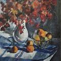 "Стукова А.А. ""Осенний натюрморт. Клен"".  1984. Холст, масло. 79х98,5"
