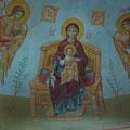 """Орехов А.В. """"Богоматерь на престоле."""" 2010г. Роспись алтаря храма. п.Головино."""