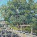 """Бурмистрова А,А. """"Старый  мостик"""". 2010 Холст, масло, 30*50"""