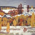 Егоров А.В. Ранний снег.2010. Бумага пастель 42х59.