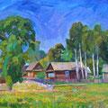 """Бритова Н.К. """"Лето в Рябово"""". 2011 г.  х.м 60х80"""