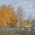 "Мочалин А.Н. ""Осень в деревне"". 2014. Холст, масло. 80х120"