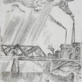 "Рыбаков В.Г."" Мост."" б. офорт, 1972"