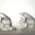 """Корнеева А.В. Декоративная скульптура """"Крысуня"""", изделие для массового производства, хрусталь, пресс-форма 2008 год"""