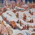 """Холин Д. А. """"Воскресный день. Козлов вал во Владимире"""". 2011г. х. м. 90х110"""