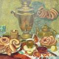 """Пчеляков Б.А. """"Чайный натюрморт"""".  2013 к., м. 57х63"""