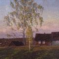 Телегин В.П.  Деревня Старое Котчище. 1990. х.м.