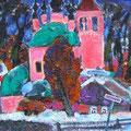 """Тимошкина Д.В. """"Зимний вечер."""" 2009. Х.,м. 60х65"""