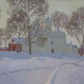 Солодилов А.Э. Суздаль. В Ризоположенском монастыре 2011 х.м. 80х120