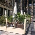 Eine schöne Terrasse direkt am Kölner Dom