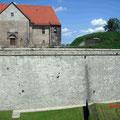 Zitadelle Petersberg Erfurt, Stützmauern