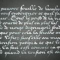 CURSIVE GOTHIQUE à la plume, gouache sur papier, A5