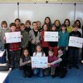 réalisation d'affiches sur les consignes de tri (cadre B2I)à l'école d'Escoubes