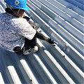 ④折板部分の塗装工程。