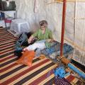 Vorbereitung zum Weben bei den Berberfrauen