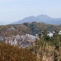 八幡山から見る谷津山