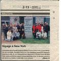 Article a propos de notre voyage à New York