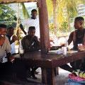 Am Strand mit netten Jamaikanern