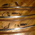 Sabres totalement démontés avant restauration