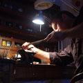 Réparation d'une branche de lustre en laiton