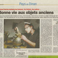 article de presse lors de la restauration