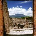 Pompeje (w tle Wezuwiusz), Włochy