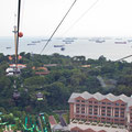 Singapore, view from the Cable Car (Jewel Box)