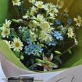 開店祝いの花束:マーガレット/ブルースター/スカシユリ/グラジオラス/ガーベラ ¥5000