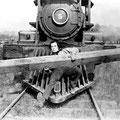 Buster Keaton dans Le Mécano de la « General », film réalisé par lui-même et Clyde Bruckman en 1926.