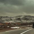 Über den Jbel Anaour gab es noch Schnee...