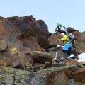 die letzten Meter im Fels zum Hauptgipfel