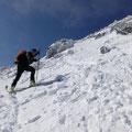 Chrsitian nun wenige Meter unter der Tuckettspitze