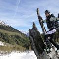 Bergtol mit Blick zur oberen Alm