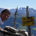 Gipfelstange am Tellakopf
