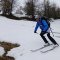 gekämpft wurde um jeden Meter Schnee