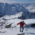 Franz auf den letzten flachen Meter zum Gipfel