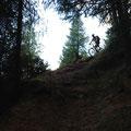 und ins Tal donnerten, hier auf dem Vinschger Höhenweg
