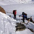 Lediglich eine heikle Steilstufe gab es im Aufstieg zu überwinden