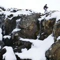 Blick zur lezten steileren, tollen Rinne