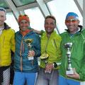 Von links - Sieger Horst, zweiter Franz, dritter Tini, und Toni wie gehabt