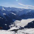 herrliches Panorama kurz vor dem Gipfelsturm